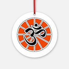Hindu Peace Om Aum Ornament (Round)