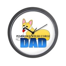 Pembroke Welsh Corgi Dad Wall Clock