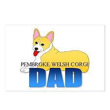 Pembroke Corgi Dad Postcards (Package of 8)