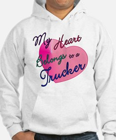 My Heart Belongs to a Trucker Hoodie
