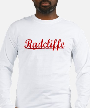 Radcliffe, Vintage Red Long Sleeve T-Shirt