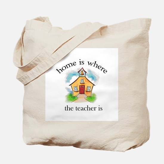 Home is where the teacher is Tote Bag