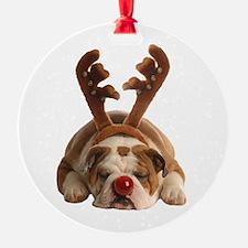 Funny Bulldog Christmas Ornament