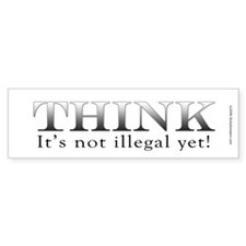 THINK Bumper Bumper Sticker