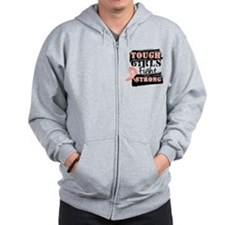 Tough Girls Uterine Cancer Zip Hoodie