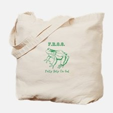 F.R.O.G. Fully Rely On God frog Tote Bag