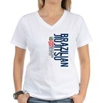 Pass out before you die BJJ Women's V-Neck T-Shirt