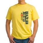 Pass out before you die BJJ Yellow T-Shirt