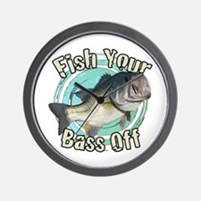 Fish your bass off Wall Clock