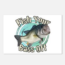 Fish your bass off Postcards (Package of 8)