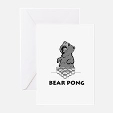 Bear Pong Greeting Cards (Pk of 10)