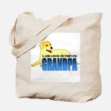 Yellow Labrador Retriever Grandpa Tote Bag