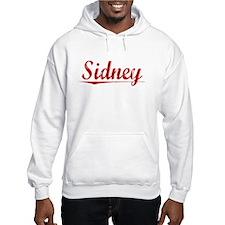Sidney, Vintage Red Hoodie Sweatshirt