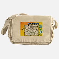 Colorado Map Greetings Messenger Bag