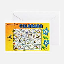Colorado Map Greetings Greeting Card