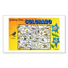 Colorado Map Greetings Decal