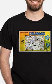 Colorado Map Greetings T-Shirt