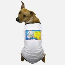 Alaska Map Greetings Dog T-Shirt