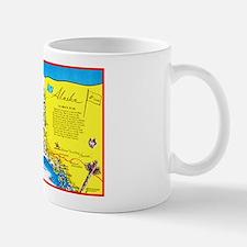 Alaska Map Greetings Mug