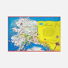 Alaska Map Greetings Rectangle Magnet