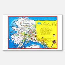 Alaska Map Greetings Decal