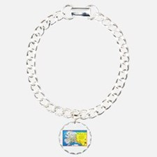 Alaska Map Greetings Bracelet