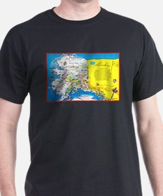 Alaska Map Greetings T-Shirt