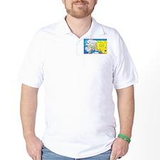 Alaska Map Greetings T-Shirt