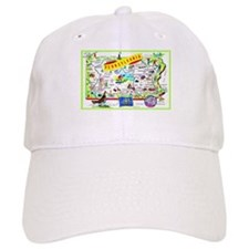 Pennsylvania Map Greetings Baseball Cap