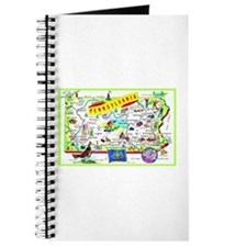 Pennsylvania Map Greetings Journal