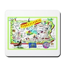Pennsylvania Map Greetings Mousepad