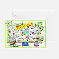 Pennsylvania Map Greetings Greeting Card