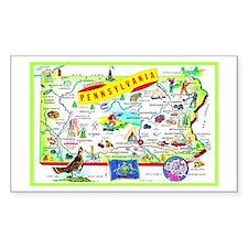 Pennsylvania Map Greetings Decal