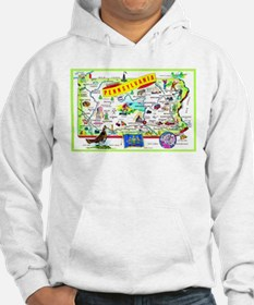 Pennsylvania Map Greetings Hoodie