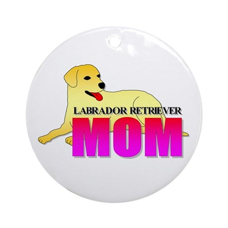 Labrador Retriever Mom Ornament (Round)