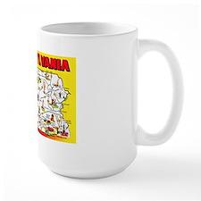 Pennsylvania Map Greetings Mug