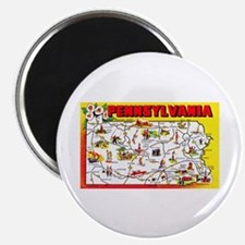 Pennsylvania Map Greetings Magnet