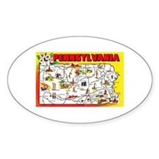 Pennsylvania Map Greetings Decal