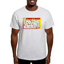 Pennsylvania Map Greetings T-Shirt