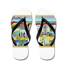 Oregon Greetings Flip Flops