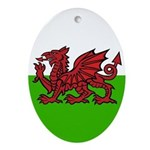 Welsh Flag Oval Ornament