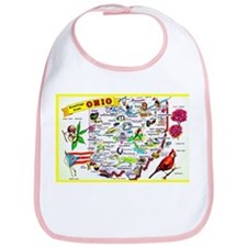 Ohio Map Greetings Bib