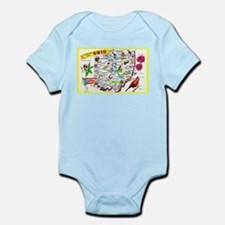 Ohio Map Greetings Infant Bodysuit
