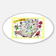 Ohio Map Greetings Decal