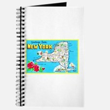 New York Map Greetings Journal
