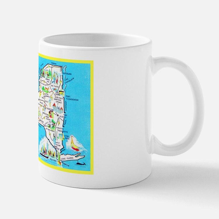New York Map Greetings Mug