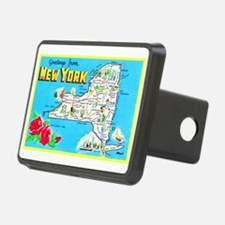 New York Map Greetings Hitch Cover