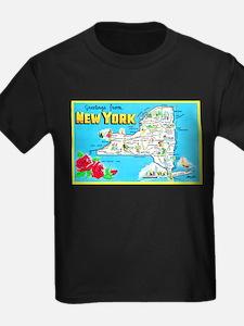 New York Map Greetings T