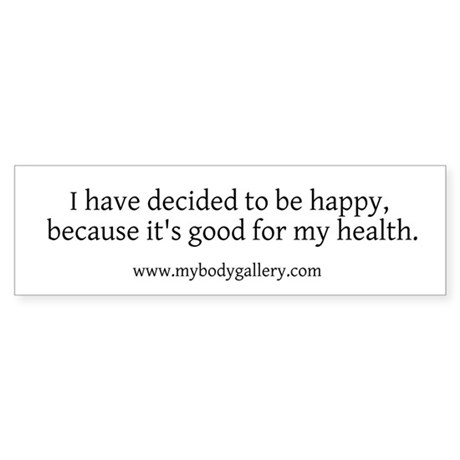 """""""Decided to be Happy"""" Sticker (Bumper)"""