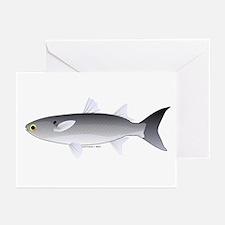 Black Mullet fish Greeting Cards (Pk of 10)